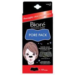 BIORE PORE PACK CLEANSING BLACK STRIP 10S