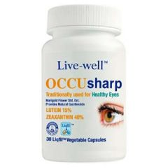 LIVE-WELL OCCU SHARP FOR HEALTHY EYES VEGETABLE CAPSULE 30S