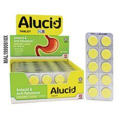 ALUCID ANTACID & ANTI-FLATULENCE TABLET 10S X 18