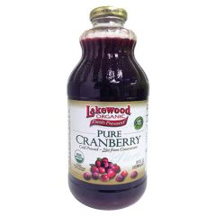 LAKEWOOD ORGANIC PURE CRANBERRY JUICE 946ML