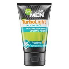 GARNIER MEN TURBO LIGHT OIL CONTROL ANTI-SHINE BRIGHTENING COOLING FOAM 100ML