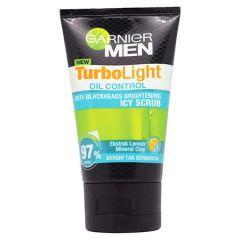 GARNIER MEN TURBO LIGHT OIL CONTROL ANTI-BLACKHEADS BRIGHTENING ICY SCRUB 100ML