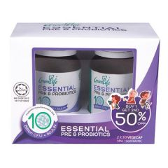GREENLIFE ESSENTIAL PRE & PROBIOTICS VEGETABLE CAPSULE 30S X 2