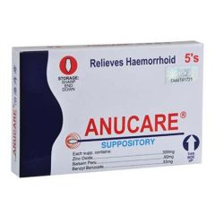 ANUCARE SUSPOSITORY (RELIEVES HAEMORRHOID) 5S