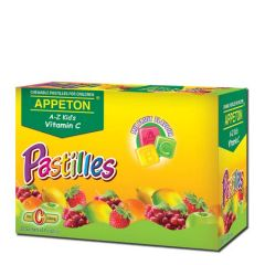 APPETON A-Z KIDS VITAMIN C 30MG (MIX FRUIT) CHEWABLE PASTILLES 20 SACHETS X 5S