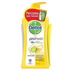DETTOL PROFRESH ACTI-BACTERIAL BODY WASH 950ML + G