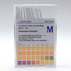 MERCK PH INDICATOR (0-14) NON BLEEDING 100 STRIPS