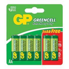 GP GREENCELL EXTRA HEAVY DUTY AA BATTERY 4S + 2S