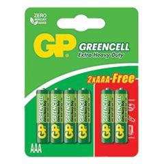 GP GREENCELL EXTRA HEAVY DUTY AAA BATTERY 4S + 2S