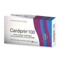 CARDIPRIN 100 FOR PREVENTING STROKES & HEART ATTACKS TABLET 90S