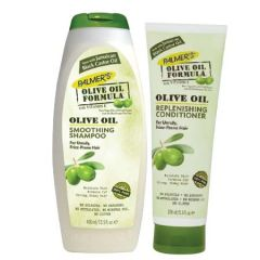 PALMERS SHAMPOO OLIVE OIL SMOOTHING 400ML + REPLENISHING CONDITIONER 250ML