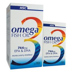 HSC OMEGA 3 FISH OIL EPA & DHA SOFTGEL 120S + 60S