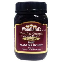 WOODLANDS CERTIFIED ORGANIC MG200+ RAW MANUKA HONEY 500G