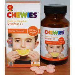 CHEWIES CHILDREN CHEWABLE VITAMIN C 100MG TABLET 75S