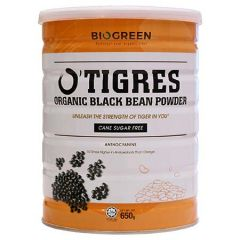 BIOGREEN O'TIGRES ORGANIC BLACK BEAN POWDER SUGAR FREE 650G