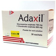 ADAXIL GLUCOSAMINE 750MG + CHONDROITIN 600MG POWDER SACHET 30S