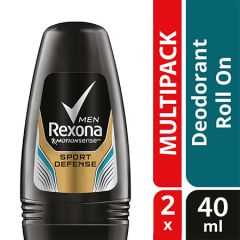 REXONA MEN DEODORANT ROLL ON SPORT DEFENCE 40ML X 2