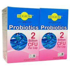 BIOGROW PROBIOTICS VEGETABLE CAPSULES 90S X 2
