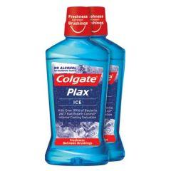 COLGATE PLAX ICE NO ALCOHOL MOUTHWASH 750ML X 2