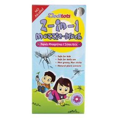 MEDITOTS 2 IN 1 MOZZIE BLOCK MOSQUITO REPELLENT & ITCH RELIEF SPRAY 60ML