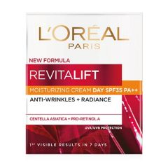 LOREAL REVITALIFT MOISTURIZING CREAM DAY SPF35 ANTI-WRINKLES + RADIANCE 50ML