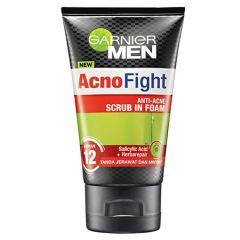 GARNIER MEN ACNO FIGHT ANTI-ACNE SCRUB IN FOAM 100ML