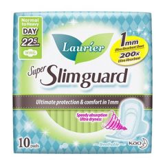 LAURIER PAD SUPER SLIM GUARD DAY WING ULTRA ABSORBENT 22.5CM 10S