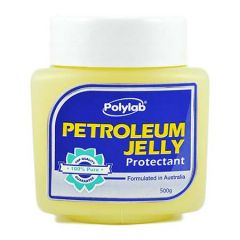 POLYLAB WHITE PETROLEUM JELLY 500G