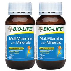 BiO-LiFE MULTIVITAMINS WITH MINERALS TABLET 100S X 2