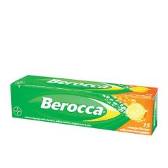 BEROCCA VITAMIN B+C ORANGE EFFERVESCENT TABLET 15S