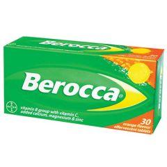 BEROCCA VITAMIN B+C ORANGE EFFERVESCENT TABLET 30S