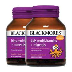 BLACKMORES KIDS MULTIVITAMINS + MINERALS CHEWABLE TABLET 60S X 2