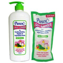 PUREEN LIQUID CLEANSER NO FLAVOUR 750ML + 600ML (REFILL)