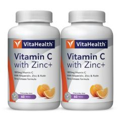 VITAHEALTH VITAMIN C WITH ZINC+ TABLET 60S X 2