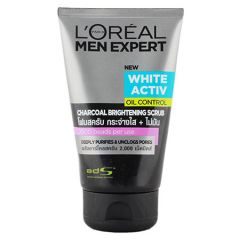 LOREAL MEN EXPERT WHITE ACTIV OIL CONTROL CHARCOAL BRIGHTENING SCRUB 100ML