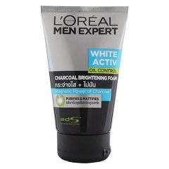 LOREAL MEN EXPERT WHITE ACTIV OIL CONTROL CHARCOAL BRIGHTENING FOAM 100ML