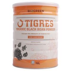 BIOGREEN O'TIGRES ORGANIC BLACK BEAN POWDER LOW SUGAR 700G