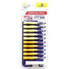 DENTALPRO INTERDENTAL BRUSH SIZE-2 10S