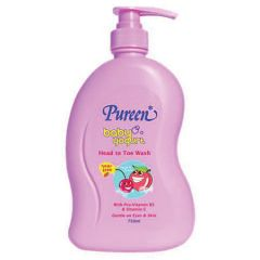 PUREEN BABY YOGURT HEAD TO TOE WASH-PEACH & CHERRY 750ML