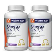 VITAHEALTH OMEGA 3,6,7,9 SOFTGEL 60S X 2