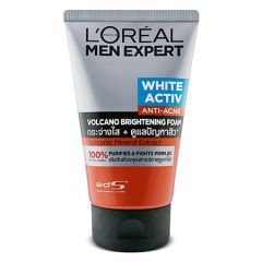 LOREAL MEN EXPERT WHITE ACTIV ANTI-ACNE VOLCANO BRIGHTENING FOAM 100ML