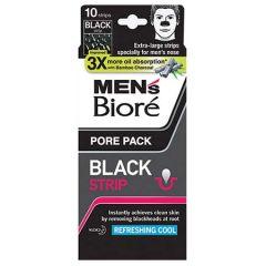 BIORE MENS PORE PACK BLACK STRIP REFRESHING COOL 10S