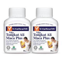 VITAHEALTH VITA TONGKAT ALI MACA PLUS VEGETABLE CAPSULE 60S X 2
