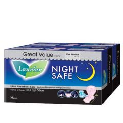 LAURIER SOFTCARE NIGHTSAFE WING 30CM 16S X 2