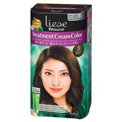 LIESE BLAUNE TREATMENT CREAM HAIR COLOR MEDIUM BROWN KT5