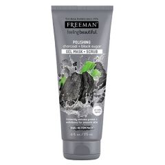 FREEMAN POLISHING CHARCOAL + BLACK SUGAR GEL MASK + SCRUB 175ML