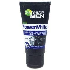 GARNIER MEN POWER WHITE DARK SPOTS+PORE TIGHTENING SUPER DUO FOAM 100ML