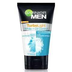 GARNIER MEN TURBO LIGHT WHITENING+OIL CONTROL ICY DUO FOAM 100ML