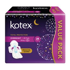 KOTEX PROACTIVE GUARD OVERNIGHT WING 28CM 28S