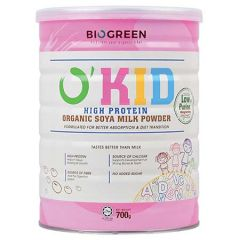 BIOGREEN O'KID HIGH PROTEIN ORGANIC SOYA MILK POWDER 700G